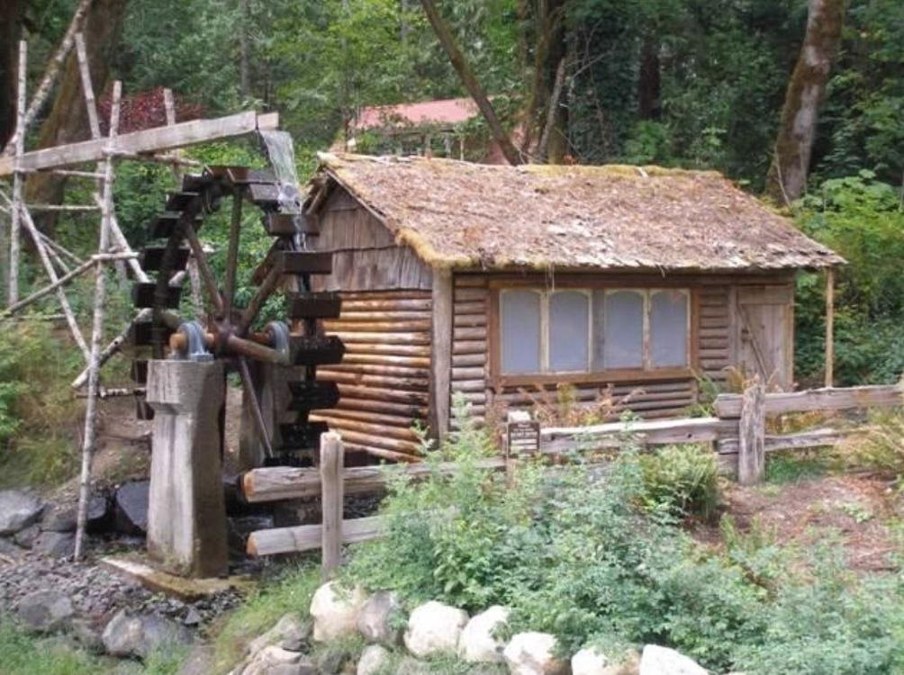 Cabin and Waterwheel