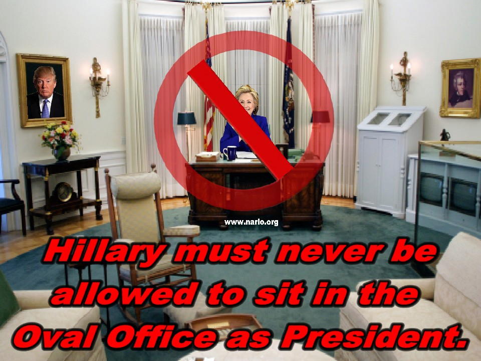Hillary Must Never Reach the Oval Office