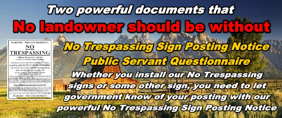 No Trespassing Sign Posting Notice=