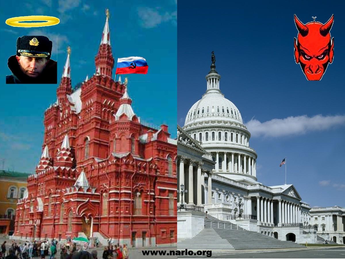 Kremlin and U. S. Capitol=