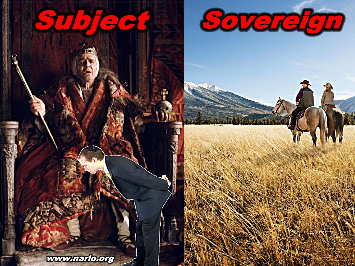Are You Subject or Sovereign=